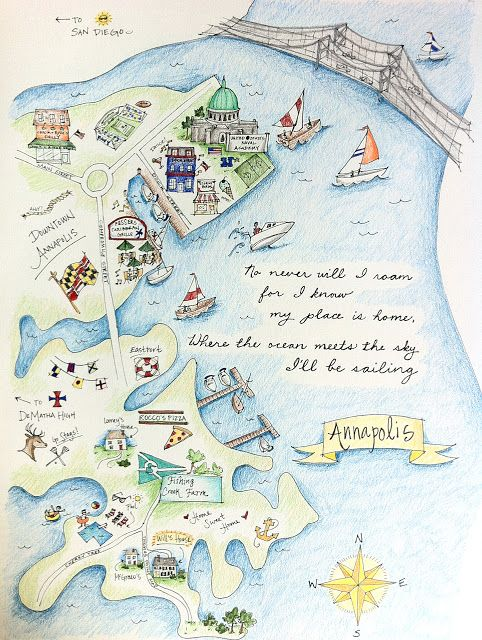 LoveLee | illustrations + designs | annapolis map | Illustrations by ...