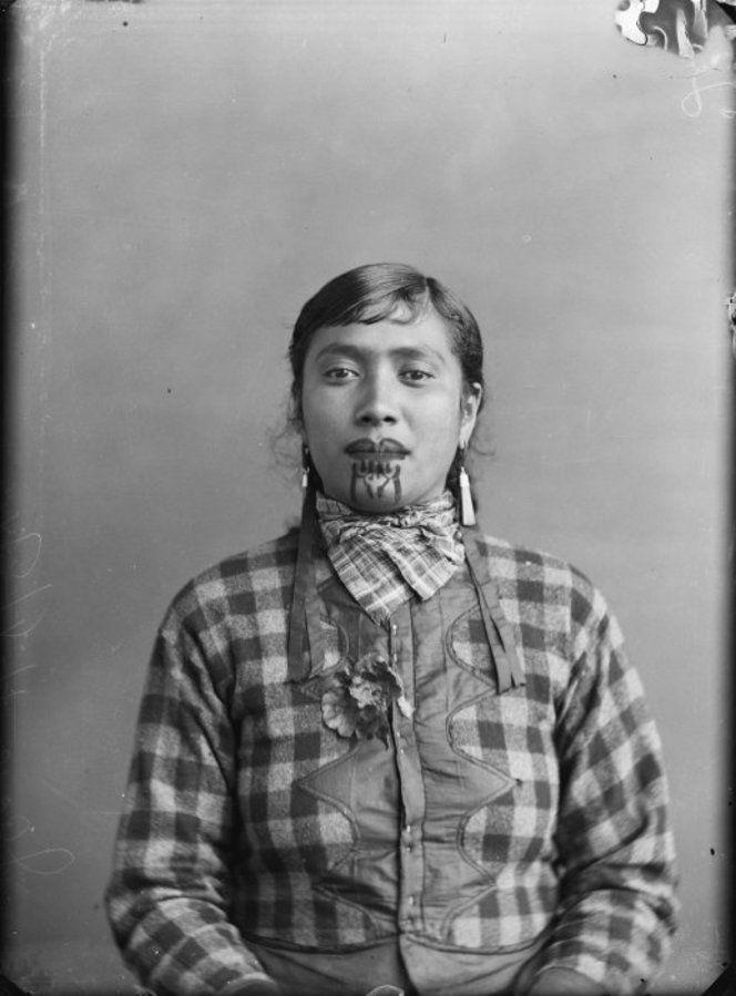 Maori Moko | Jane (Maori woman from the Hawkes Bay district) with moko (face tattoo ...