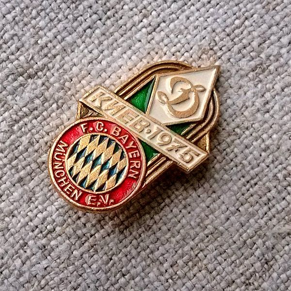 Sport badge Bayern Munich Dynamo Kiev Vintage Super cup UEFA European football championship Sports match Goal Victory Football player Goal by MyWealth on Etsy