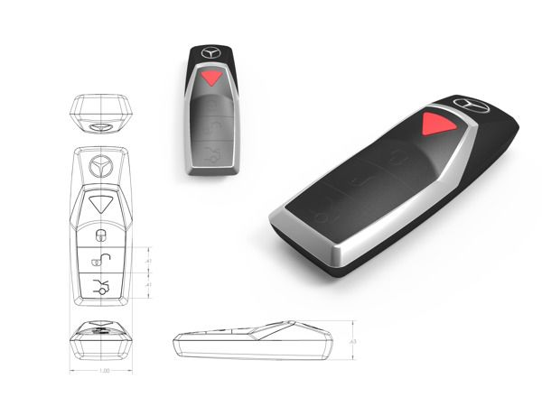 Mercedes Benz Key Fob on Behance Car key fob, Mercedes