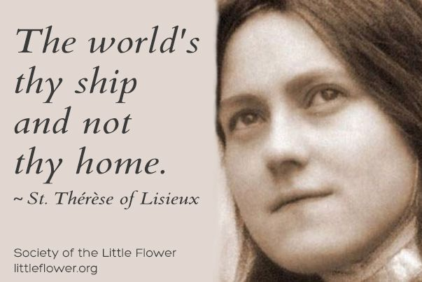 St Therese Daily Inspiration With Images Saint Quotes