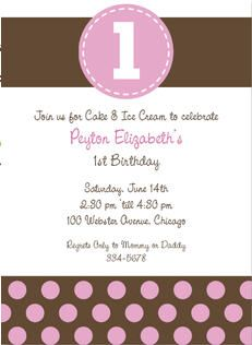 invite with no pic but polka dots Party Ideas Pinterest