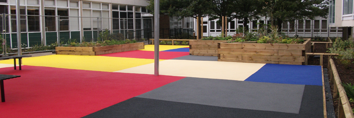 Playground Rubber Surfacing In Caerphilly Play Area Safety - Soft flooring for children's play area