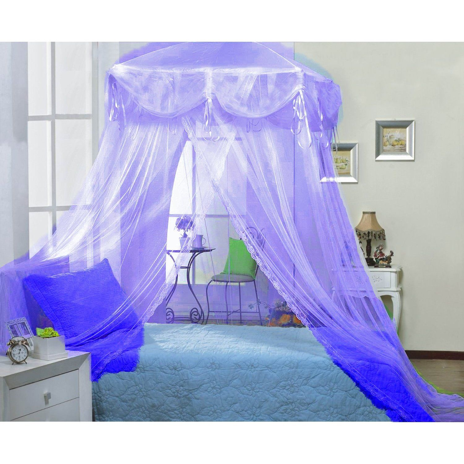Purple Lilac Four Corner Square Princess Bed Canopy. Change The Coverlet To  A Pastel Pink