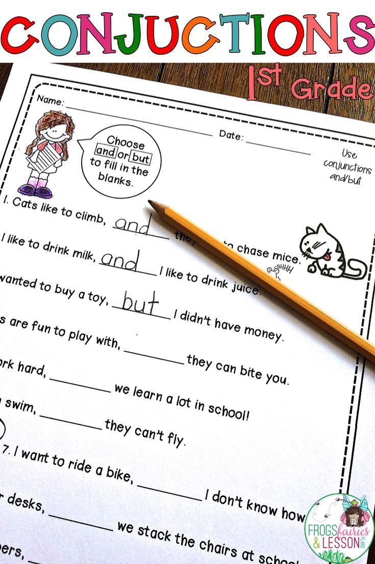 Conjunction Activities And A Literacy Center For 1st Grade This 1st Grade Conjunctions Resource Consists Of Pra Conjunctions Ela Writing Common Core Standards [ 1103 x 735 Pixel ]