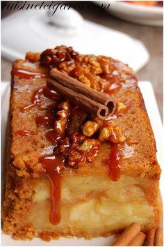 Charlotte Pommes pain d'épices / Apple gingerbread charlotte cake Servir avec un caramel au beurre salé