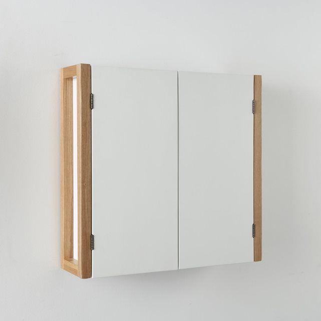 Meuble haut 2 portes compo un style scandinave apport Meuble haut salle de bain bois