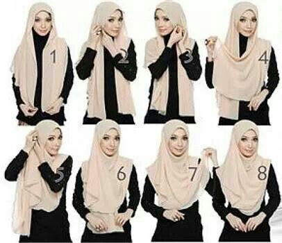 Half Moon Plain Shawl Hijab Tutorial Hijab Style Tutorial Simple Hijab