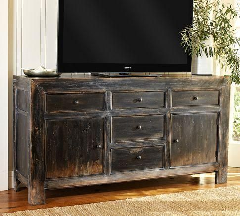 Storage Furniture - Dawson Media Consoles | Pottery Barn - console ...