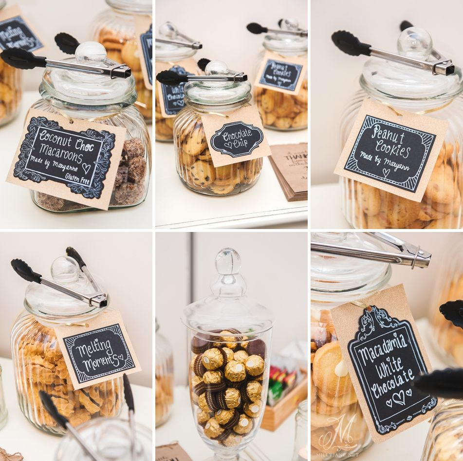 www.firstclassfunctions.com.au  Having a dessert table is such a great idea for guest favours