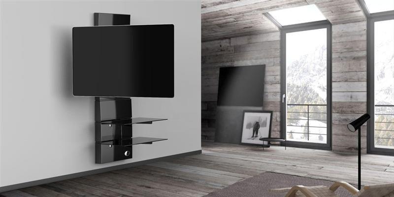 Porta Tv Da Parete Meliconi.Meliconi Ghost Design 3000r Noir Tve Design Flat Screen