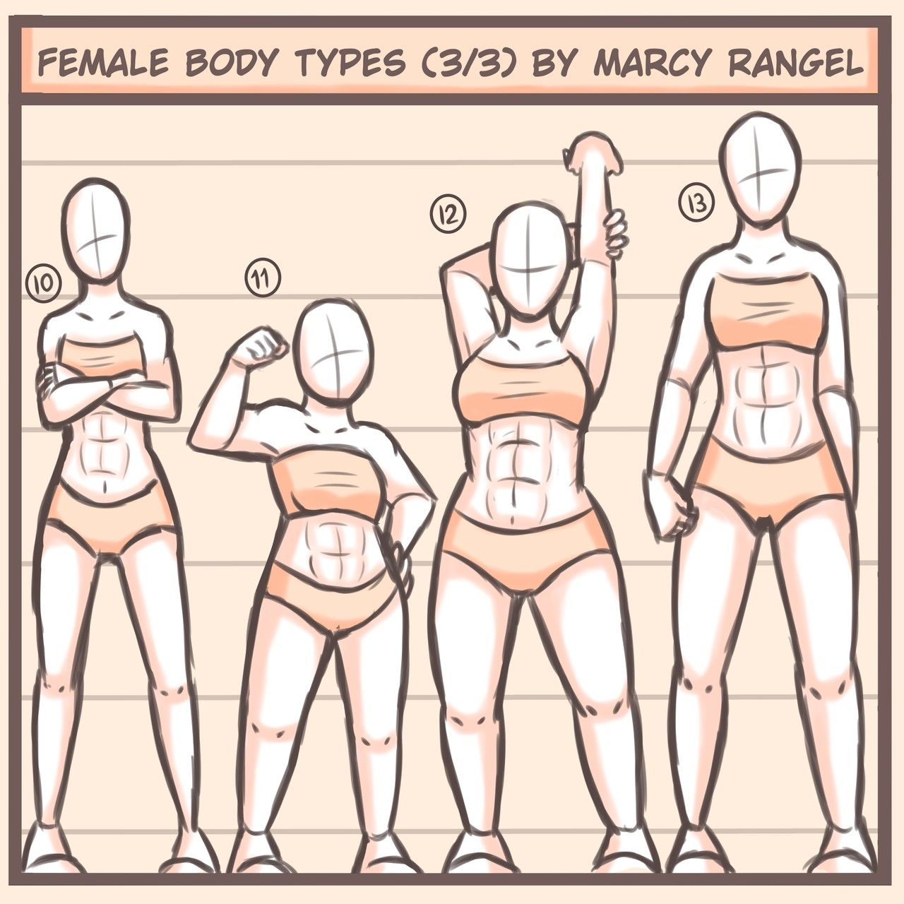Some Variety In Body Type For Strong Girls For Art Body Reference Drawing Body Type Drawing Body Types