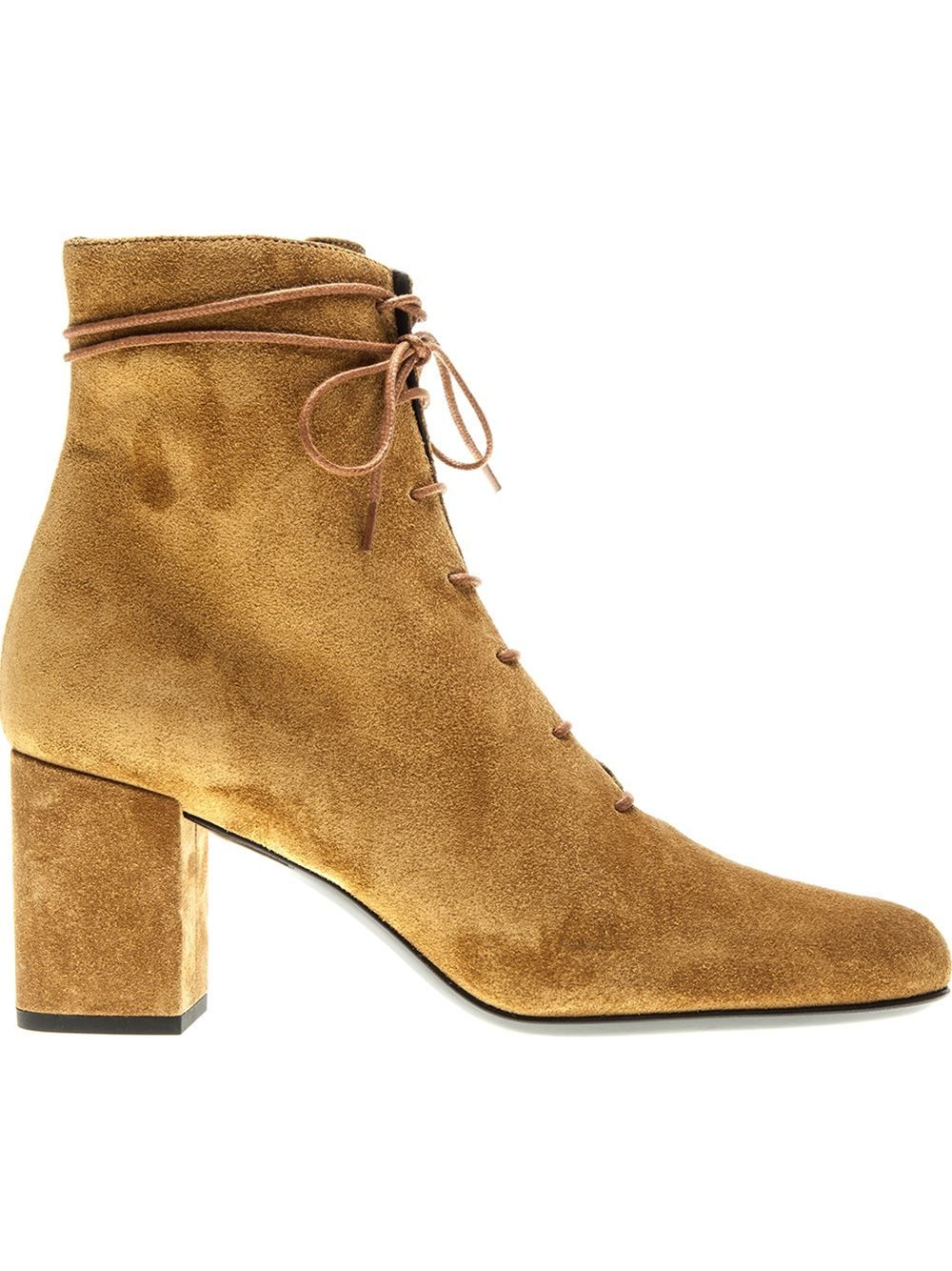 Yves Saint Laurent Suede Lace-Up Booties buy cheap professional buy cheap shop offer sale 2014 new outlet new cheap release dates BOWlljo