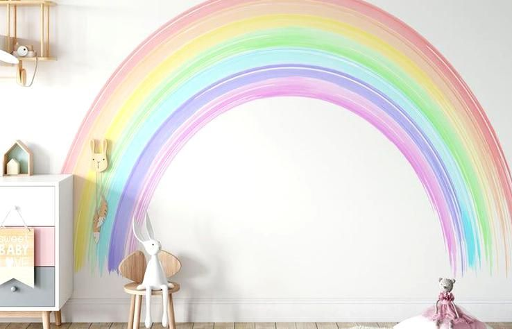 Siete Colores Del Mural Rainbow Wall Colorido Rainbow Wall Etsy In 2020 Rainbow Wall Large Wall Murals Rainbow Wall Decal