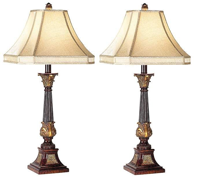 Set Of Two English Bronze Buffet Lamps 91524 Lamps