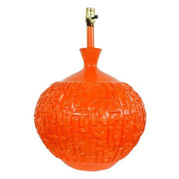 The Modern Historic: Mid Century Orange Lamp, at 20% off!