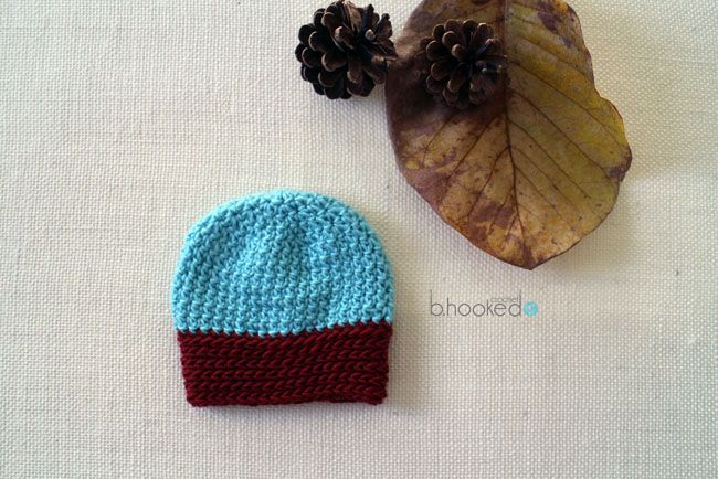 Free crochet pattern  Inside Out Beanie with video tutorial by B.Hooked  Crochet 65674f1a96e