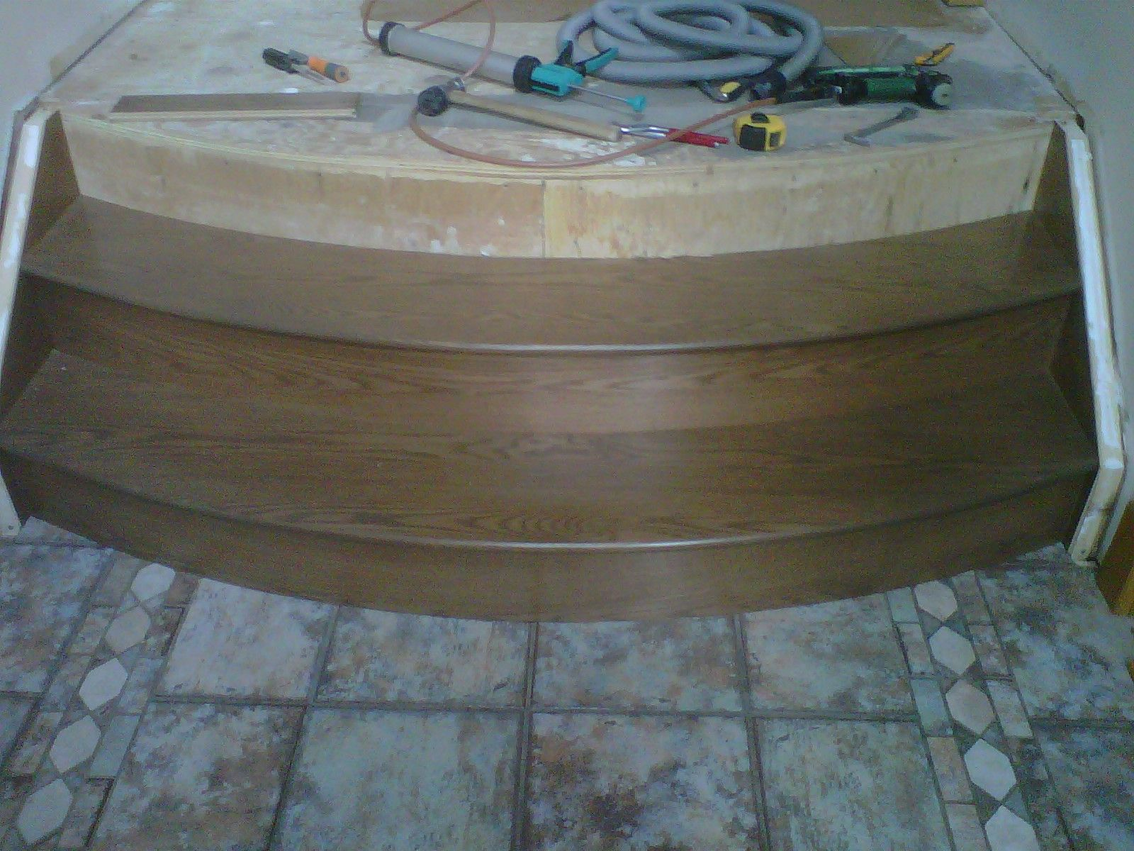 Custom milled and prefinished stair treads by