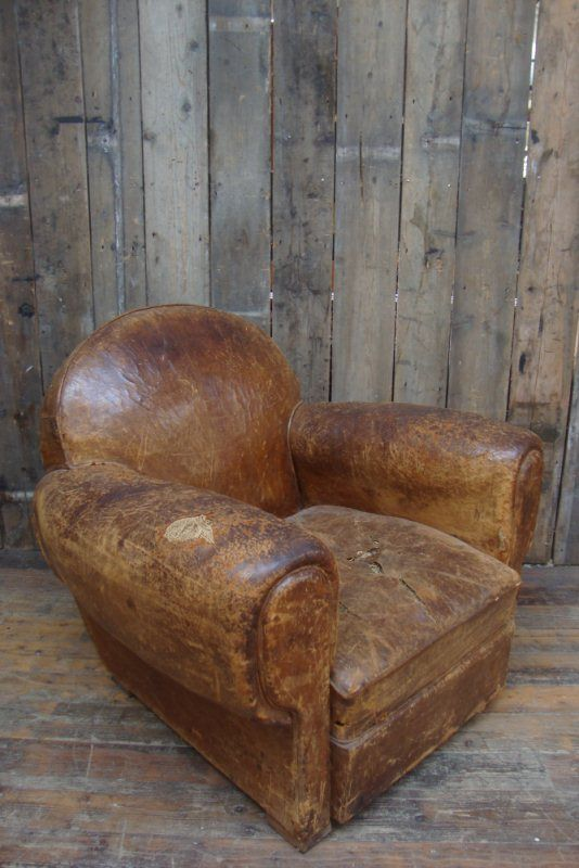 Leather Club Chair From Fave British Show Salvage Hunters