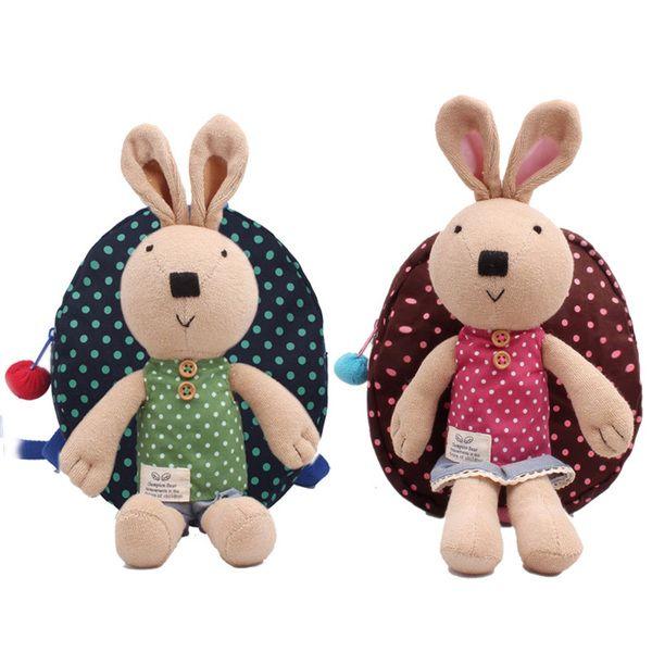 棉布兒童書包兒童背包小女孩包包幼兒防走失帶牽引繩牽引包1-3歲