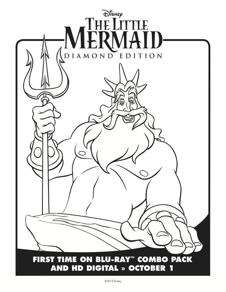 Little Mermaid Coloring Pages Mermaid Coloring Pages Mermaid Coloring The Little Mermaid [ 1024 x 796 Pixel ]