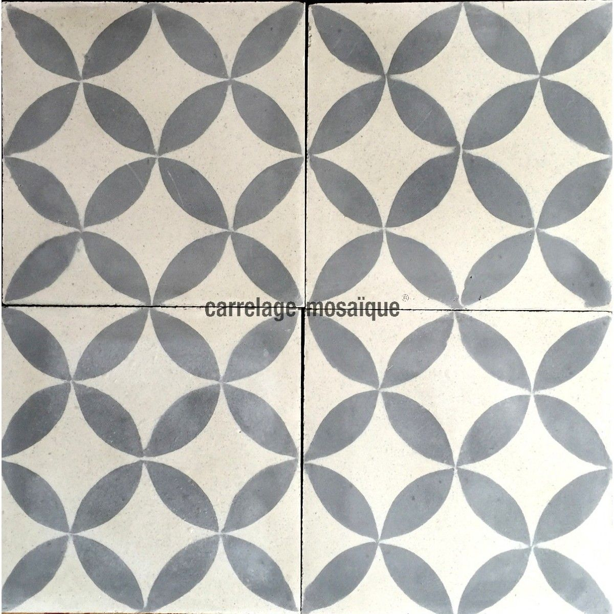 Carrelage ciment pas cher 1m2 modele sampa gris for Carrelage 45x45