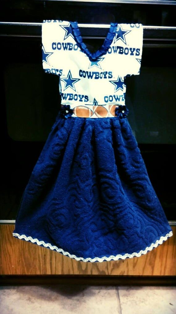 Items similar to Hand Towel Dress for Kitchen or Bathroom: Dallas Cowboys on Etsy #handtowels
