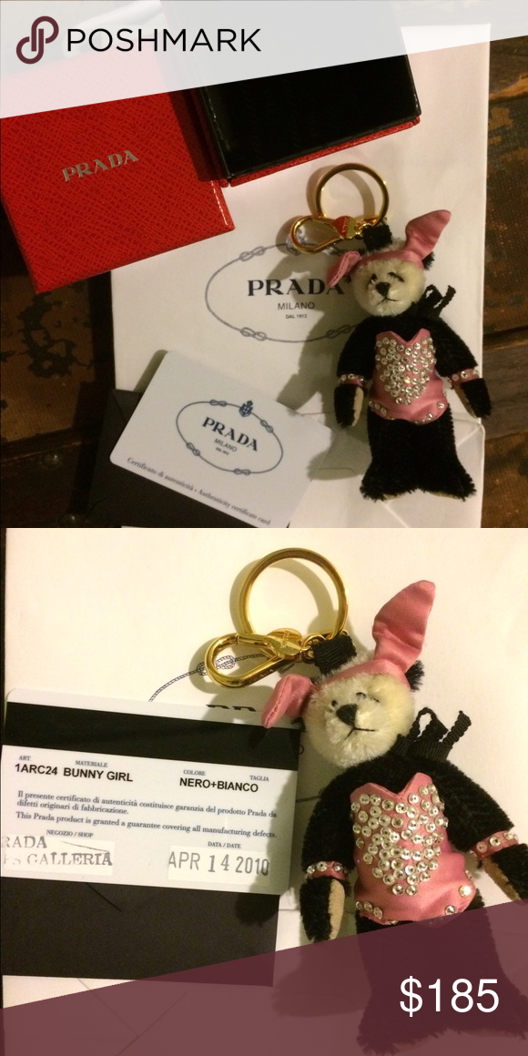 🌟FLASH SALE!🌟AUTHENTIC PRADA Teddy Bear Keyring AUTHENTIC PRADA Teddy Bear Keyring. Perfect condition, with box and authenticity card. Great for a gift! Prada Accessories Key & Card Holders