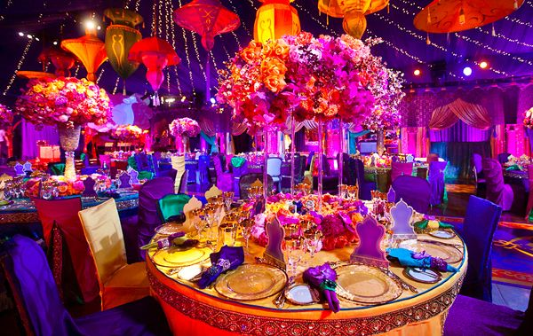 Vibrant colours with deep rich purples decor colour wedding my colorful purple pink and orange indian wedding decorations junglespirit Gallery