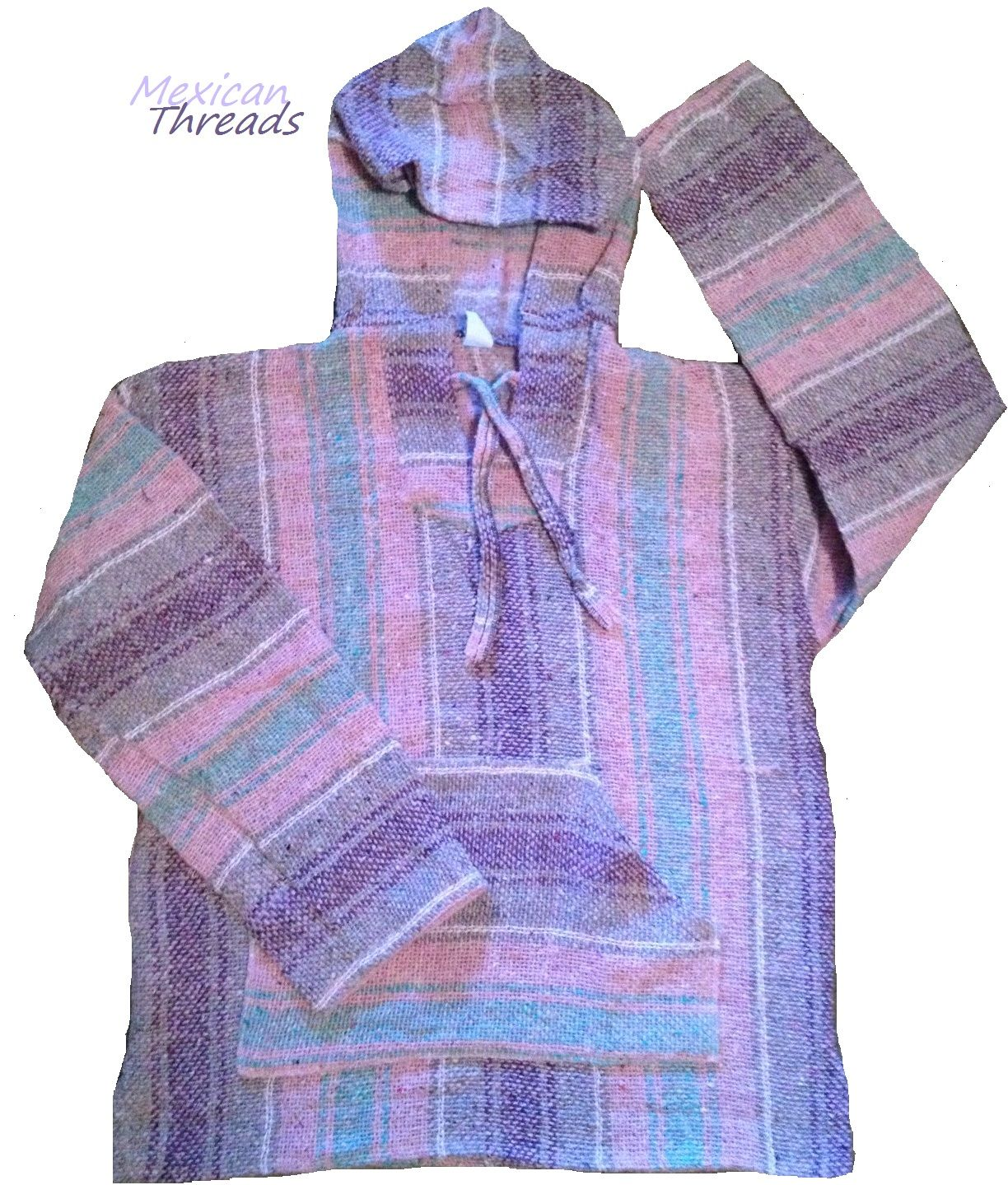 Pink Purple Baja Hoodie Drug Rug