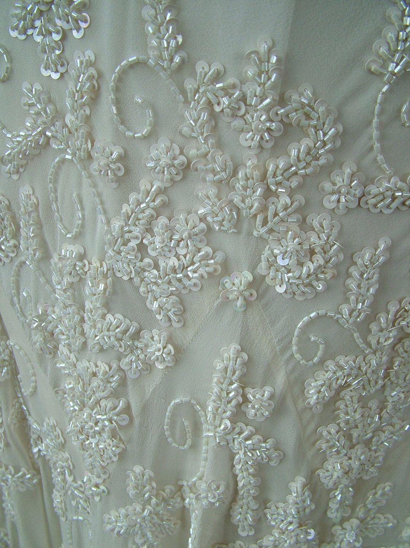 S flapper wedding dress scarf bottom by retrovintageweddings