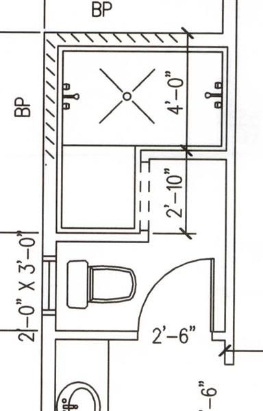4 5 39 x7 8 39 dimensions range dimensions for doorless walk in shower stall master bath Bathroom floor plans walk in shower