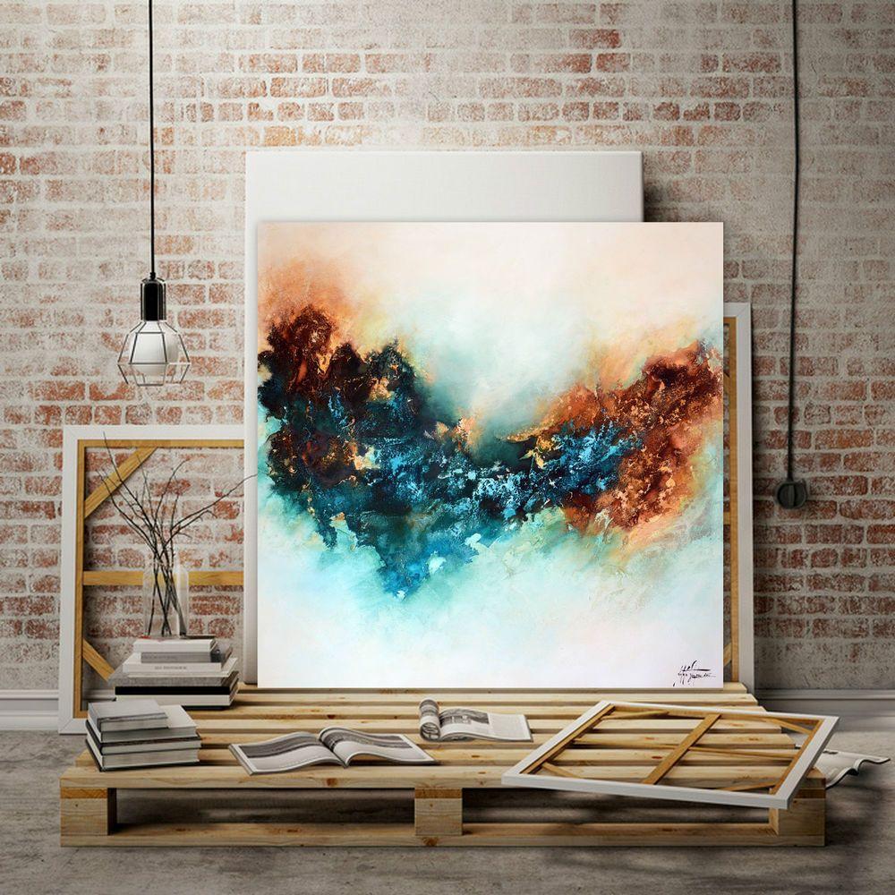 kunstgalerie natalie acryl bild gem lde kunst art 100x100cm leinwand malerei kunstgalerie. Black Bedroom Furniture Sets. Home Design Ideas