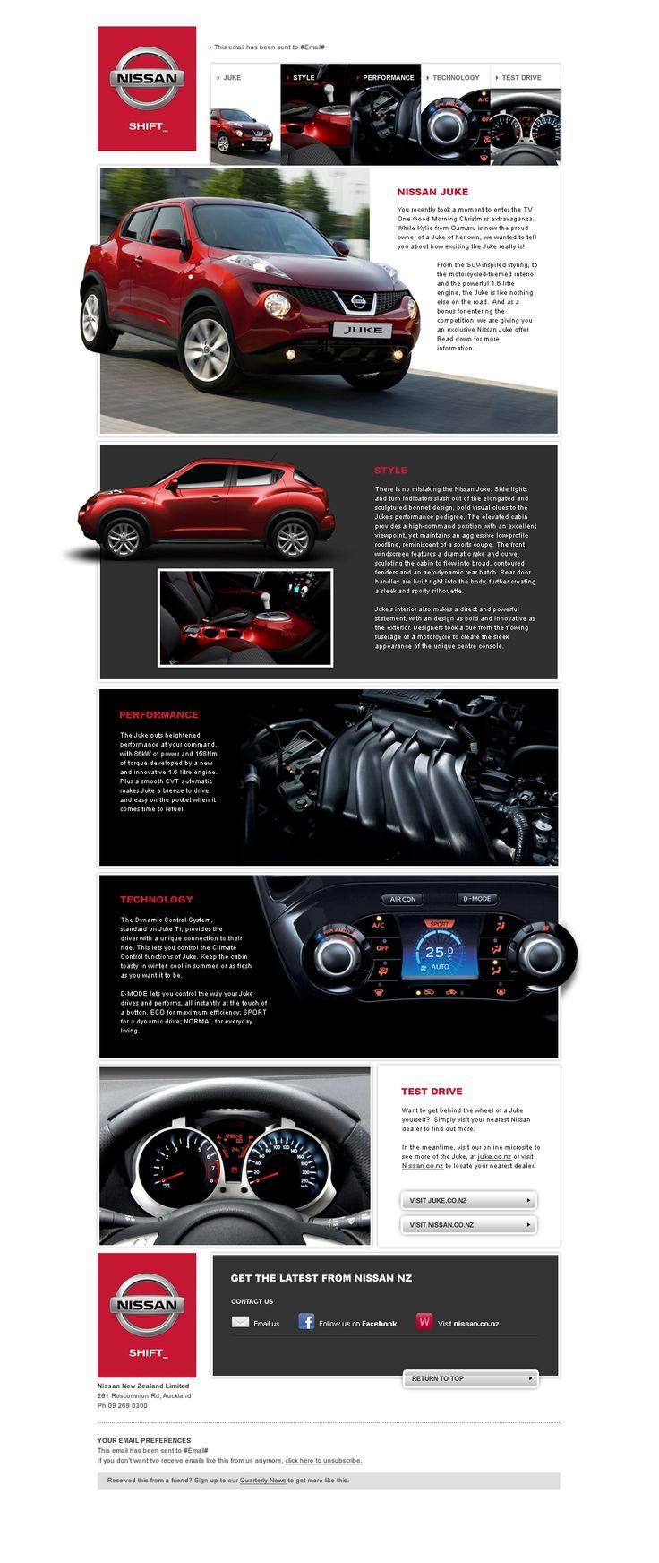 Nissan Email Template | Inspirational Emails | Pinterest | Template