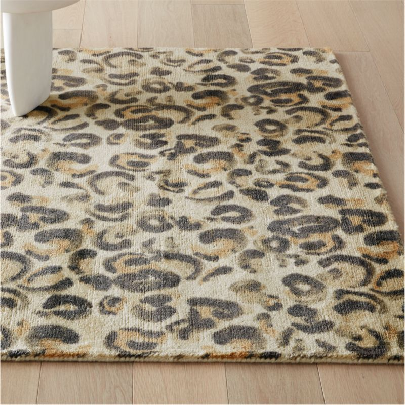 Leopard Print Rug Modern Area Rugs