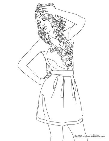 Taylor Swift Coloring Pages Printable Coloring Pages People Coloring Pages Taylor Swift Birthday