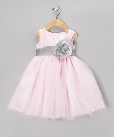 e18a62f1d25 Take a look at this Pink   Silver Flower Dress - Toddler   Girls by Sweá  Pea   Lilli on  zulily today!
