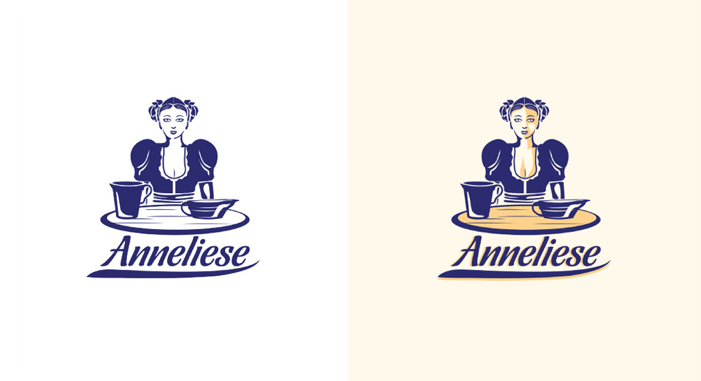 Illustrated brand mark for a German dairy brand # ...
