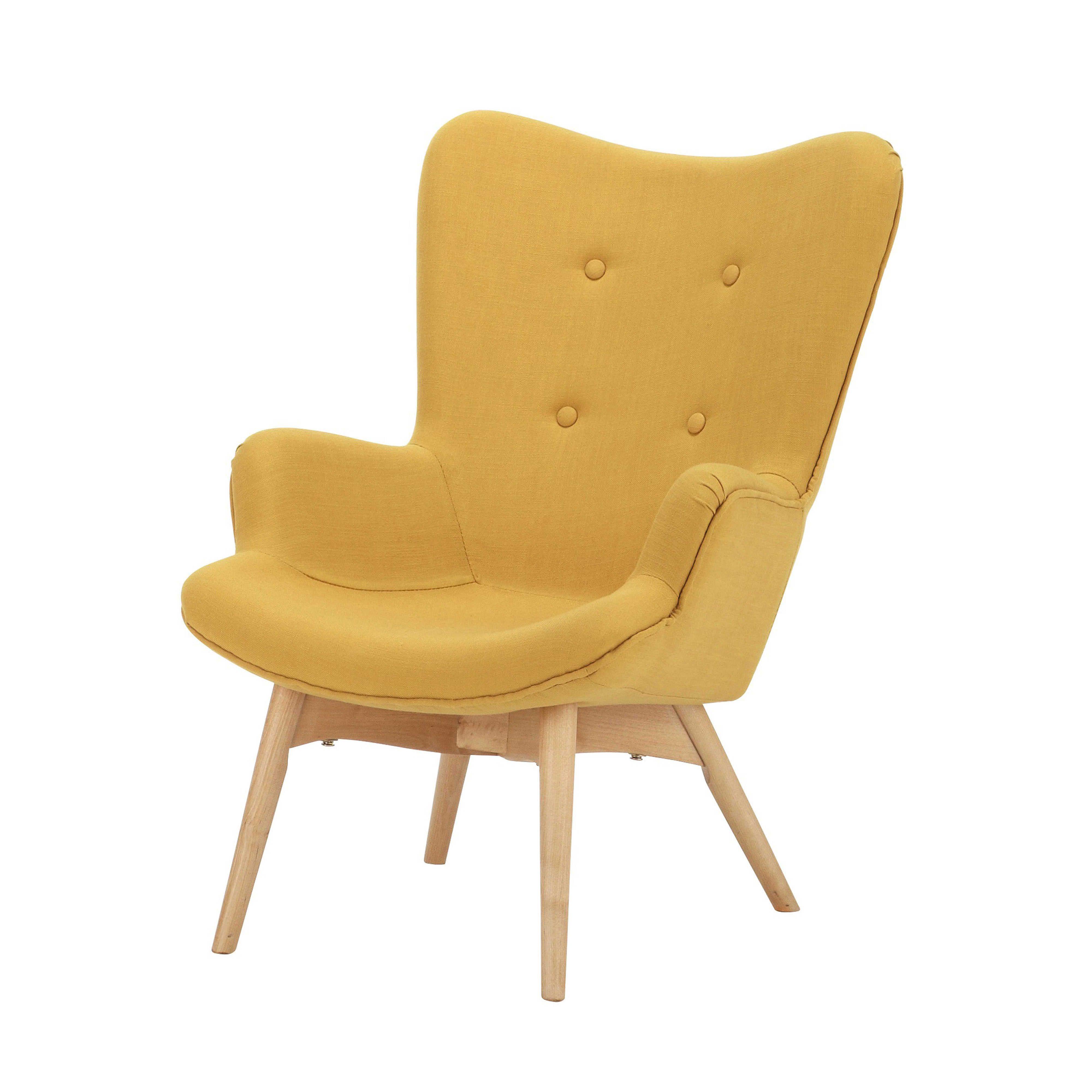 Kindersessel grau  Fauteuil vintage enfant en bois et tissu jaune Iceberg | Kids room ...