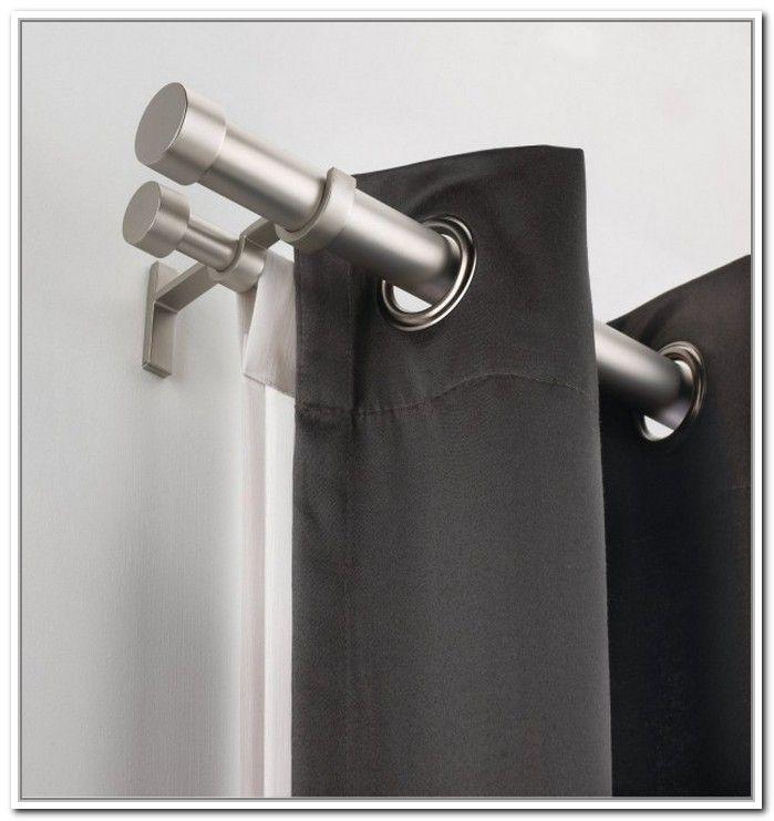 Inside Mount Curtain Rod Sockets Double Rod Curtains Double