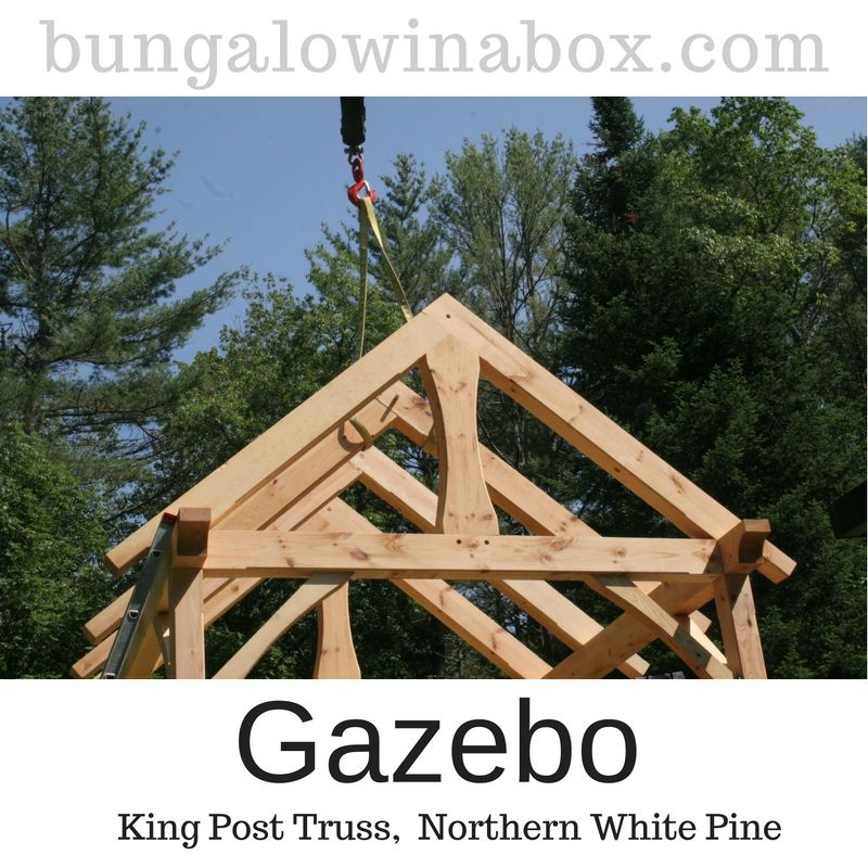 King post trusses were incorporated into the design of this timber ...