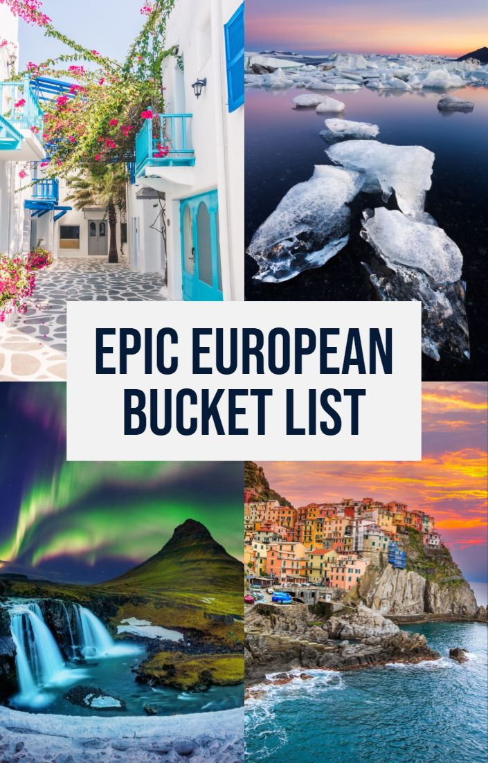 The most EPIC bucket list destinations in Europe!