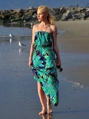 トロピカル柄でトレンド先取り ケイト・ボスワース(Kate Bosworth)のビーチスタイル