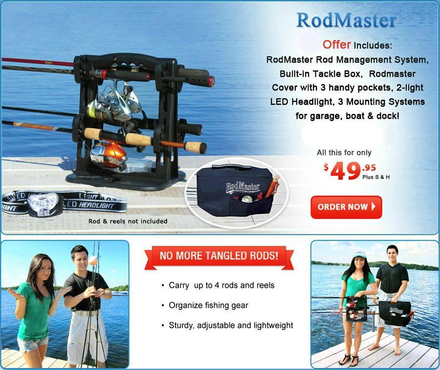 Fishing Rod Caddy & Rod Rack for Rod Storage, RodMaster USA