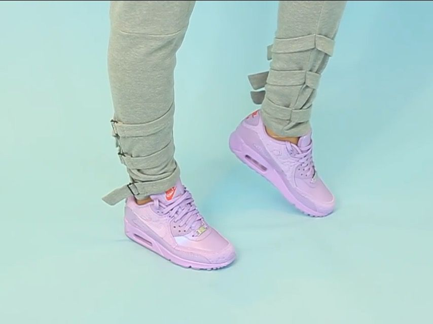 buy online c458d 8f85e Women's Nike Air Max 90 PARIS-Macaron Viola/Challenge Red/Fuchsia Glow.  From Tootsie Time YouTube channel, linked below!