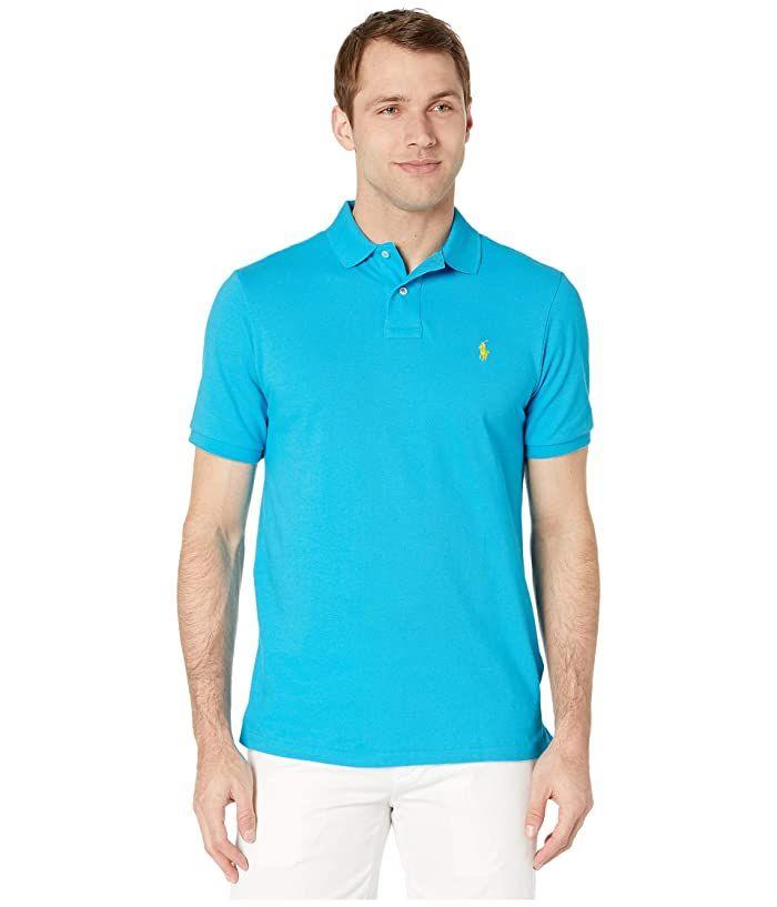 Polo Ralph Lauren Classic Fit Mesh Polo Cove Blue Men S Clothing