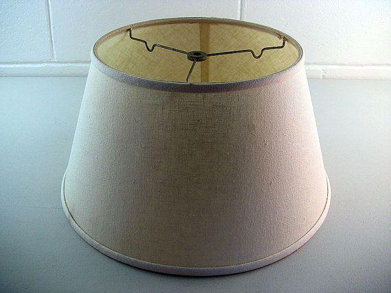 Vintage Lamp Shade Spider Reflector Shade Linen Lamp Shade Artemis
