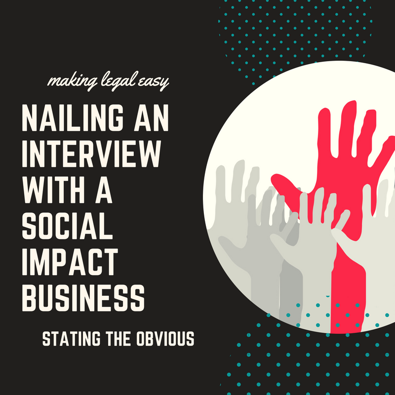 Stating the Obvious tips for nailing an interview with a