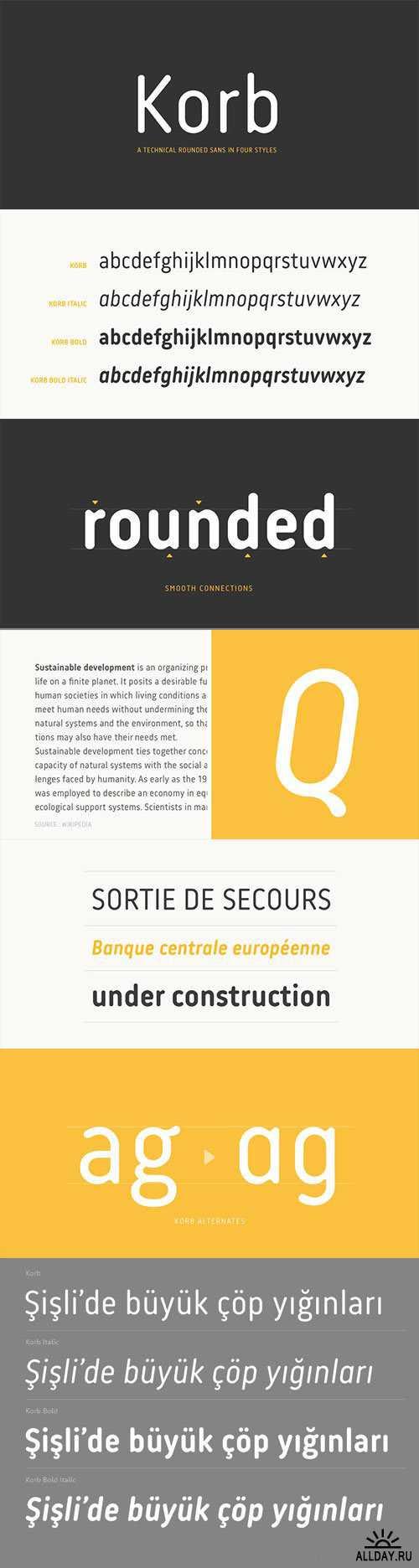 Korb - Rounded Narrow Sans Font Family   FONTS   Fonts, Font family