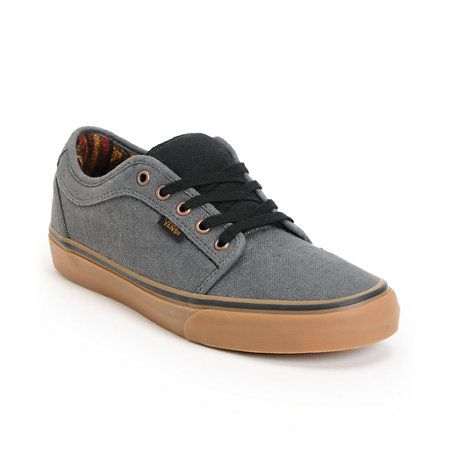 3f56ba7950  65 Cruise the streets in custom style with the Vans Chukka Low Mexi  Blanket skate shoe in the grey and gum colorway. Th